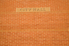 City Hall sign Stock Photos