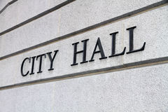City Hall Sign. On the wall Royalty Free Stock Images