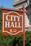 City Hall Sign Royalty Free Stock Photos