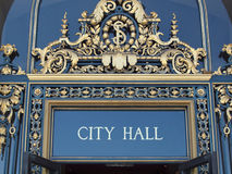 City Hall Sign Royalty Free Stock Photography
