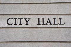 City Hall Sign Royalty Free Stock Image