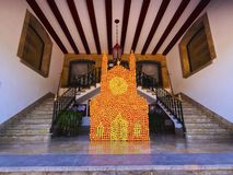 City Hall in Soller on Majorca Stock Images