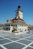 City hall square Brasov royalty free stock photo