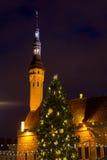 City hall square at Christmas Stock Image