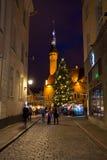 City hall square at Christmas Royalty Free Stock Photos