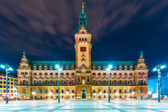 City Hall Square in Hamburg, Germany Royalty Free Stock Photography