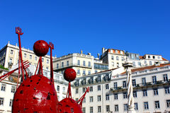 City Hall Square, Lisbon, Portugal Stock Photos