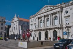 City Hall Square, Lisbon, Portugal Stock Images