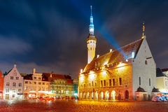 City Hall square in Old Town of Tallinn, Estonia Royalty Free Stock Photography