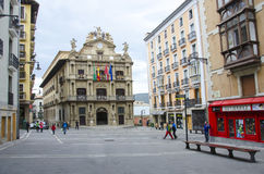 City Hall Square Pamplona in Spain Royalty Free Stock Photos