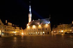 City Hall Square in Tallinn, Estonia Stock Photography