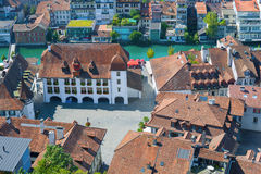 City Hall Square in Thun Stock Image