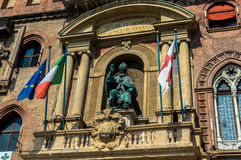 City hall. Statue of the city hall in Bologna Stock Image
