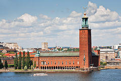 City Hall in Stockholm royalty free stock images