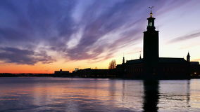The city hall, Stockholm stock footage