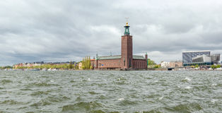 City hall in Stockholm seen from Riddarholmen Stock Image