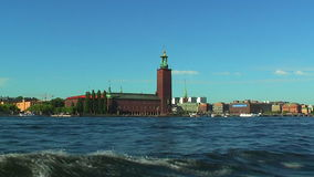 City Hall in Stockholm, Sweden stock footage