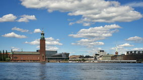 City Hall in Stockholm. Sweden at summer stock footage
