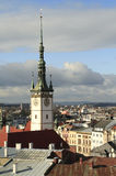 City Hall Tover in Olomouc. View of the town hall tower and rooftops of the city of Olomouc, Czech Republic Royalty Free Stock Image