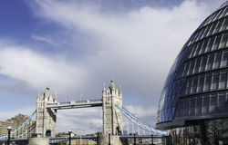 City Hall & Tower Bridge, London Stock Photos