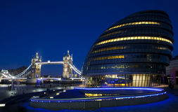 City Hall, Tower Bridge and the River Thames in London Royalty Free Stock Photo