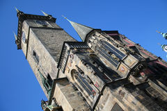 City Hall tower. Prague, Czech. Royalty Free Stock Photos