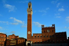 City Hall Tower,Siena Italy Stock Images