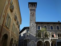 Town council of Bellinzona, Ticino, Switzerland. royalty free stock photos