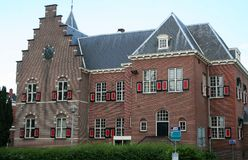 City hall of Veendam. Netherlands,Groningen,Veendam,july 2016: City hall of Veendam Stock Photography