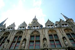 City hall of Veere. Netherlands,Zeeland,Walcheren,Veere, july2016:City hall of Veere royalty free stock photo
