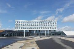 City hall of Viborg in Denmark. Viborg, Denmark - August 27, 2015: City hall of Viborg in Denmark from Henning Larsen international architecture firm Stock Image