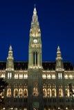 City hall in Vienna. At night, Austria Stock Photos