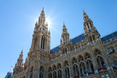 City Hall, Vienna, Austria Stock Photos