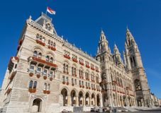 City Hall in Vienna, in the District Innere Stadt. Historic Building - City Hall Vienna District Innere Stadt Austria in Europe Stock Photos