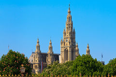 City Hall of Vienna (Rathaus) Royalty Free Stock Images