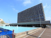 City Hall and Water Pool in Rabin Square Stock Photos