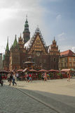 City Hall in Wroclaw Stock Photos