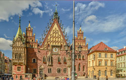City hall in Wroclaw 2013 - big picture. Image was taken on September 2013 Stock Images