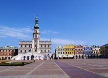 City Hall in Zamosc Royalty Free Stock Image