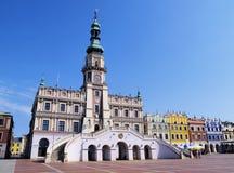 City Hall in Zamosc Stock Photos