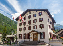 City Hall in Zermatt Stock Photo