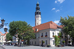 City Hall in Zielona Gora. The city has been known for its wines for centuries royalty free stock photos