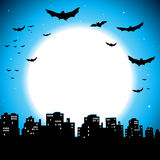 City Halloween Background Stock Image