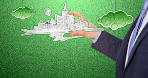 City into the hand Stock Photography