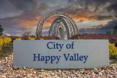 City of Happy Valley Sign Royalty Free Stock Photos