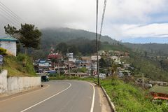 The city Haputale in Sri Lanka. The city of Haputale in Sri Lanka Stock Photos