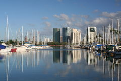 City and Harbor Royalty Free Stock Images