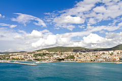 City and harbor at Kusadasi - bird island Stock Images