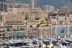 City and harbour of monte carlo, monaco Royalty Free Stock Images