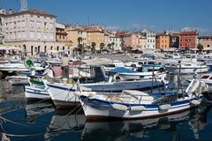 City harbour in Rovinj Royalty Free Stock Photos